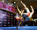 MACAU - FEBRUARY 27:  Dong Hyun Kim holds an open training session for media at Venetian Macau on February 27, 2014 in Macau. (Photo by Mitch Viquez/Zuffa LLC/Zuffa LLC via Getty Images)