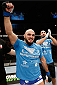 LONDON, ENGLAND - MARCH 08:  Ilir Latifi reacts after his submission victory over Cyrille Diabate in their light heavyweight fight during the UFC Fight Night London event at the O2 Arena on March 8, 2014 in London, England. (Photo by Josh Hedges/Zuffa LLC/Zuffa LLC via Getty Images)