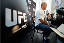 DALLAS, TX - MARCH 13:  Robbie Lawler speaks with the media during the UFC 171 Ultimate Media Day at American Airlines Center on March 13, 2014 in Dallas, Texas. (Photo by Jeff Bottari/Zuffa LLC/Zuffa LLC via Getty Images)