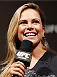 NATAL, BRAZIL - MARCH 22:  UFC reporter Paula Sack hosts a Q&A session with fans before the UFC weigh-in at Ginasio Nelio Dias on March 22, 2014 in Natal, Brazil. (Photo by Josh Hedges/Zuffa LLC/Zuffa LLC via Getty Images)