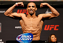 ORLANDO, FL - APRIL 18:  Edson Barboza weighs in during the FOX UFC Saturday weigh-in at the Amway Center on April 18, 2014 in Orlando, Florida. (Photo by Josh Hedges/Zuffa LLC/Zuffa LLC via Getty Images)