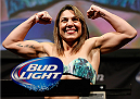 BALTIMORE, MD - APRIL 25: Bethe Correia weighs in during the UFC 172 weigh-in at the Baltimore Arena on April 25, 2014 in Baltimore, Maryland. (Photo by Josh Hedges/Zuffa LLC/Zuffa LLC via Getty Images)