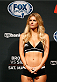 CINCINNATI, OH - MAY 09:  UFC Octagon Girl Chrissy Blair stands on stage during the UFC weigh-in at the U.S. Bank Arena on May 9, 2014 in Cincinnati, Ohio. (Photo by Josh Hedges/Zuffa LLC/Zuffa LLC via Getty Images)