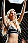 CINCINNATI, OH - MAY 10:  UFC Octagon Girl Chrissy Blair introduces a round during the UFC Fight Night event at the U.S. Bank Arena on May 10, 2014 in Cincinnati, Ohio. (Photo by Josh Hedges/Zuffa LLC/Zuffa LLC via Getty Images)