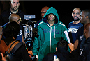 SAO PAULO, BRAZIL - MAY 31:  Warlley Alves enters the arena before his middleweight fight against Marcio Alexandre during the UFC Fight Night event at the Ginasio do Ibirapuera on May 31, 2014 in Sao Paulo, Brazil. (Photo by Josh Hedges/Zuffa LLC/Zuffa LLC via Getty Images)