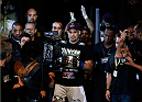 SAO PAULO, BRAZIL - MAY 31: Fabio Maldonado enters the arena before his heavyweight fight against Stipe Miocic during the UFC Fight Night event at the Ginasio do Ibirapuera on May 31, 2014 in Sao Paulo, Brazil. (Photo by Josh Hedges/Zuffa LLC/Zuffa LLC via Getty Images)