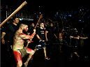 AUCKLAND, NEW ZEALAND - JUNE 28:  James Te Huna enters the arena before his middleweight fight against Nate Marquardt during the UFC Fight Night event at Vector Arena on June 28, 2014 in Auckland, New Zealand.  (Photo by Josh Hedges/Zuffa LLC/Zuffa LLC via Getty Images)