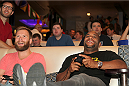 LAS VEGAS, NV - JULY 1: Daniel Cormier plays the new EA Sports UFC video game with fans to kick off the UFC International Fight Week at Legasse's Stadium at The Palazzo Las Vegas on July 1, 2014 in Las Vegas, Nevada. (Photo by Brandon Magnus/Zuffa LLC/Zuffa LLC via Getty Images)