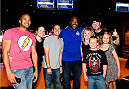 LAS VEGAS, NV - JULY 2: Rashad Evans poses with fans during the UFC International Fight Week charity bowling event at Brooklyn Bowl Las Vegas at The LINQ on July 2, 2014 in Las Vegas, Nevada. (Photo by Brandon Magnus/Zuffa LLC/Zuffa LLC via Getty Images)