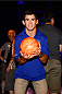LAS VEGAS, NV - JULY 2: Dominick Cruz bowls with fans during the UFC International Fight Week charity bowling event at Brooklyn Bowl Las Vegas at The LINQ on July 2, 2014 in Las Vegas, Nevada. (Photo by Brandon Magnus/Zuffa LLC/Zuffa LLC via Getty Images)