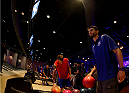 LAS VEGAS, NV - JULY 2: Carlos Condit bowls with fans during the UFC International Fight Week charity bowling event at Brooklyn Bowl Las Vegas at The LINQ on July 2, 2014 in Las Vegas, Nevada. (Photo by Brandon Magnus/Zuffa LLC/Zuffa LLC via Getty Images)