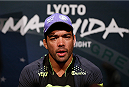 LAS VEGAS, NV - JULY 03:  UFC middleweight title challenger Lyoto Machida interacts with media during the UFC Ultimate Media Day at the Mandalay Bay Resort and Casino on July 3, 2014 in Las Vegas, Nevada.  (Photo by Josh Hedges/Zuffa LLC/Zuffa LLC via Getty Images)
