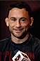 LAS VEGAS, NV - JULY 03:  Frankie Edgar interacts with media during the UFC Ultimate Media Day at the Mandalay Bay Resort and Casino on July 3, 2014 in Las Vegas, Nevada.  (Photo by Josh Hedges/Zuffa LLC/Zuffa LLC via Getty Images)
