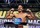 LAS VEGAS, NV - JULY 04:  Rob Font weighs in during the UFC 175 weigh-in inside the Mandalay Bay Events Center on July 4, 2014 in Las Vegas, Nevada.  (Photo by Josh Hedges/Zuffa LLC/Zuffa LLC via Getty Images)