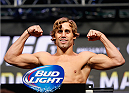 LAS VEGAS, NV - JULY 04:  Urijah Faber weighs in during the UFC 175 weigh-in inside the Mandalay Bay Events Center on July 4, 2014 in Las Vegas, Nevada.  (Photo by Josh Hedges/Zuffa LLC/Zuffa LLC via Getty Images)