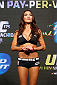 LAS VEGAS, NV - JULY 04:  UFC Octagon Girl Arianny Celeste stands on stage during during the UFC 175 weigh-in inside the Mandalay Bay Events Center on July 4, 2014 in Las Vegas, Nevada.  (Photo by Josh Hedges/Zuffa LLC/Zuffa LLC via Getty Images)