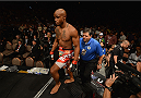 LAS VEGAS, NV - JULY 05: Marcus Brimage enters the Octagon for his fight with Russell Doane in their bantamweight fight at UFC 175 inside the Mandalay Bay Events Center on July 5, 2014 in Las Vegas, Nevada. (Photo by Donald Miralle/Zuffa LLC/Zuffa LLC via Getty Images)