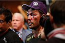 LAS VEGAS, NV - JULY 05:  Lyoto Machida leaves the Octagon after his loss to Chris Weidman in their UFC middleweight championship fight at UFC 175 inside the Mandalay Bay Events Center on July 5, 2014 in Las Vegas, Nevada.  (Photo by Josh Hedges/Zuffa LLC/Zuffa LLC via Getty Images)