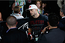 LAS VEGAS, NV - JULY 06:  Frankie Edgar enters the arena for his featherweight fight with BJ Penn during the Ultimate Fighter Finale inside the Mandalay Bay Events Center on July 6, 2014 in Las Vegas, Nevada.  (Photo by Josh Hedges/Zuffa LLC/Zuffa LLC via Getty Images)