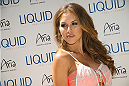LAS VEGAS, NV - JULY 3:  UFC Octagon Girl Brittney Palmer arrives at the UFC pool party during UFC International Fight Week at the Liquid Pool Lounge at the Aria Resort & Casino at CityCenter on July 3, 2014 in Las Vegas, Nevada. (Photo by Al Powers/Zuffa LLC/Zuffa LLC via Getty Images) *** Local Caption *** Brittney Palmer
