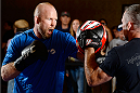 BANGOR, ME - AUG 14:   Tim Boetsch holds an open training session for the media and fans at the Cross Insurance Center on August 14, 2014 in Bangor, Maine. (Photo by Jeff Bottari/Zuffa LLC/Zuffa LLC via Getty Images) *** Local Caption ***Tim Boetsch