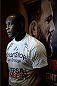 BANGOR, ME - AUG 14:   Ovince Saint Preux holds an open training session for the media and fans at the Cross Insurance Center on August 14, 2014 in Bangor, Maine. (Photo by Jeff Bottari/Zuffa LLC/Zuffa LLC via Getty Images) *** Local Caption ***Ovince Saint Preux