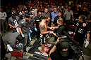 BANGOR, ME - AUGUST 16:  Ryan Bader prepares to enter the Octagon before facing Ovince Saint Preux in their light heavyweight bout during the UFC fight night event at the Cross Insurance Center on August 16, 2014 in Bangor, Maine. (Photo by Jeff Bottari/Zuffa LLC/Zuffa LLC via Getty Images)
