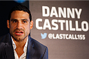 SACRAMENTO, CA - AUGUST 28:  Danny Castillo interacts with media during the UFC 177 Ultimate Media Day at the Sleep Train Arena on August 28, 2014 in Sacramento, California. (Photo by Josh Hedges/Zuffa LLC/Zuffa LLC via Getty Images)