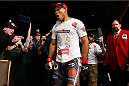 MASHANTUCKET, CT - SEPTEMBER 05:  Ronaldo 'Jacare' Souza enters the arena before facing Gegard Mousasi in their middleweight bout during the UFC Fight Night event at Foxwoods Resort Casino on September 5, 2014 in Mashantucket, Connecticut.  (Photo by Josh Hedges/Zuffa LLC/Zuffa LLC via Getty Images)