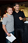 MASHANTUCKET, CT - SEPTEMBER 5: UFC middleweight champion Chris Weidman poses with a fan at the UFC's The Ultimate Fighter 20 event inside the Shrine at Foxwoods Resort Casino on September 5, 2014 in Mashantucket, Connecticut. (Photo by Jeff Bottari/Zuffa LLC/Zuffa LLC via Getty Images)