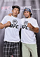TOKYO, JAPAN - SEPTEMBER 17:  Takeya Mizugaki (L) and Urijah Faber pose for the media during the UFC Ultimate Media Day at the Hilton Tokyo on September 17, 2014 in Tokyo, Japan.  (Photo by Keith Tsuji/Zuffa LLC/Zuffa LLC via Getty Images)