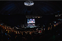 UBERLANDIA, BRAZIL - NOVEMBER 07:  General view of Sabiazinho Gymnasium during a Q&A session with Glover Teixeira before the UFC Fight Night weigh-in on November 7, 2014 in Uberlandia, Brazil.  (Photo by Buda Mendes/Zuffa LLC/Zuffa LLC via Getty Images)