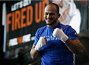 PHOENIX, AZ - DECEMBER 10:  Number 2-ranked UFC heavyweight contender Junior Dos Santos smiles as he takes part in UFC Fight Night open workouts at U.S. Airways Center on December 10, 2014 in Phoenix, Arizona.  (Photo by Ralph Freso/Zuffa LLC/Zuffa LLC via Getty Images)