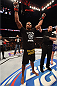 PHOENIX, AZ - DECEMBER 13:  Alistair Overeem of the Netherlands celebrates after defeating Stefan Struve of the Netherlands in their heavyweight fight during the UFC Fight Night event at the U.S. Airways Center on December 13, 2014 in Phoenix, Arizona.  (Photo by Josh Hedges/Zuffa LLC/Zuffa LLC via Getty Images)