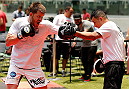 SAO PAULO, BRAZIL - DECEMBER 18:  CB Dollaway of the United States holds an open training session for fans and media at Allianz Parque on December 18, 2014 in Sao Paulo, Brazil. (Photo by Josh Hedges/Zuffa LLC/Zuffa LLC via Getty Images)