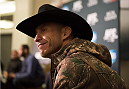LAS VEGAS, NEVADA - JANUARY 01:  Donald Cerrone speaks to the media during the UFC 182 Media Day at the MGM Grand Hotel and Casino on January 1, 2015 in Las Vegas, Nevada. (Photo by Brandon Magnus/Zuffa LLC/Zuffa LLC via Getty Images)