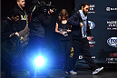 BOSTON, MA - JANUARY 17:  Benson 'Smooth' Henderson walks on stage during the UFC Fight Night Boston weigh-in event at the Orpheum Theatre on January 17, 2015 in Boston, Massachusetts. (Photo by Jeff Bottari/Zuffa LLC/Zuffa LLC via Getty Images)