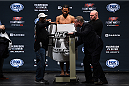 BOSTON, MA - JANUARY 17:  Benson 'Smooth' Henderson steps on the scale during the UFC Fight Night Boston weigh-in event at the Orpheum Theatre on January 17, 2015 in Boston, Massachusetts. (Photo by Jeff Bottari/Zuffa LLC/Zuffa LLC via Getty Images)
