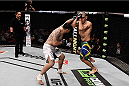 PORTO ALEGRE, BRAZIL - FEBRUARY 22: Frank Mir of the United States punches Antonio