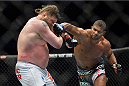 DALLAS, TX - MARCH 14:  Alistair Overeem connects with a punch to Roy Nelson during UFC 185 at the American Airlines Center on March 14, 2015 in Dallas, Texas. (Photo by Cooper Neill/Zuffa LLC/Zuffa LLC via Getty Images)