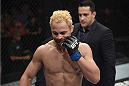 RIO DE JANEIRO, BRAZIL - MARCH 21:  Josh Koscheck of the United States gestures after being defeated  in his welterweight bout against  Erick Silva of Brazil during the UFC Fight Night at Maracanazinho Gymnasium on March 21, 2015 in Rio de Janeiro, Brazil.  (Photo by Buda Mendes/Zuffa LLC/Zuffa LLC via Getty Images)