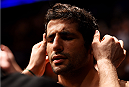 NEWARK, NJ - APRIL 18:  Beneil Dariush of Iran prepares for his lightweight bout against Jim Miller during the UFC Fight Night event at Prudential Center on April 18, 2015 in Newark, New Jersey.  (Photo by Josh Hedges/Zuffa LLC/Zuffa LLC via Getty Images)