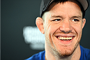 MONTREAL, QC - APRIL 23:  CB Dollaway interacts with media during the UFC 186 Ultimate Media Day at Scena on April 23, 2015 in Montreal, Quebec, Canada. (Photo by Jeff Bottari/Zuffa LLC/Zuffa LLC via Getty Images)