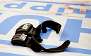 MANILA, PHILIPPINES - MAY 16: Mark Munoz of the United States after his win, retires from the UFC, leaving his gloves in the middle of the octagon during the UFC Fight Night event at the Mall of Asia Arena on May 16, 2015 in Manila, Philippines. (Photo by Mitch Viquez/Zuffa LLC/Zuffa LLC via Getty Images)