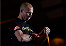 LAS VEGAS, NEVADA - MAY 20:   Donald Cerrone wraps his hands before an open training session for fans and media at the MGM Grand Hotel/Casino on May 20, 2015 in Las Vegas Nevada. (Photo by Brandon Magnus/Zuffa LLC/Zuffa LLC via Getty Images)