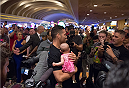 LAS VEGAS, NEVADA - MAY 20:   Chris Weidman interacts with fans at the MGM Grand Hotel/Casino on May 20, 2015 in Las Vegas Nevada. (Photo by Brandon Magnus/Zuffa LLC/Zuffa LLC via Getty Images)