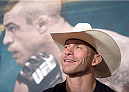 LAS VEGAS, NEVADA - MAY 21: Donald Cerrone interacts with the media during the UFC 187 Ultimate Media Day at the MGM Grand Hotel/Casino on May 21, 2015 in Las Vegas Nevada. (Photo by Brandon Magnus/Zuffa LLC/Zuffa LLC via Getty Images)