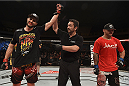 GOIANIA, BRAZIL - MAY 30:  Carlos Condit of the United States celebrates victory over Thiago Alves of Brazil in their welterweight UFC bout during the UFC Fight Night event at Arena Goiania on May 30, 2015 in Goiania, Brazil.  (Photo by Buda Mendes/Zuffa LLC/Zuffa LLC via Getty Images)