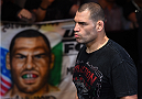 MEXICO CITY, MEXICO - JUNE 13:   Cain Velasquez of the United States prepares to enter the Octagon before facing Fabricio Werdum of Brazil in their UFC heavyweight championship bout during the UFC 188 event inside the Arena Ciudad de Mexico on June 13, 2015 in Mexico City, Mexico. (Photo by Josh Hedges/Zuffa LLC/Zuffa LLC via Getty Images)