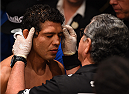 MEXICO CITY, MEXICO - JUNE 13:  Gilbert Melendez of the United States prepares to enter the Octagon before facing Eddie Alvarez of the United States in their lightweight bout during the UFC 188 event at the Arena Ciudad de Mexico on June 13, 2015 in Mexico City, Mexico. (Photo by Josh Hedges/Zuffa LLC/Zuffa LLC via Getty Images)